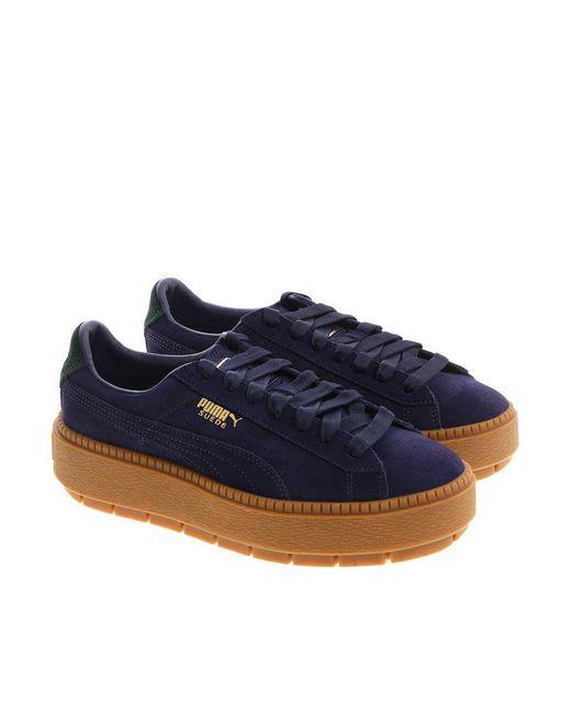 PUMA - Blue Platform Trace Bold Sneakers - Lyst