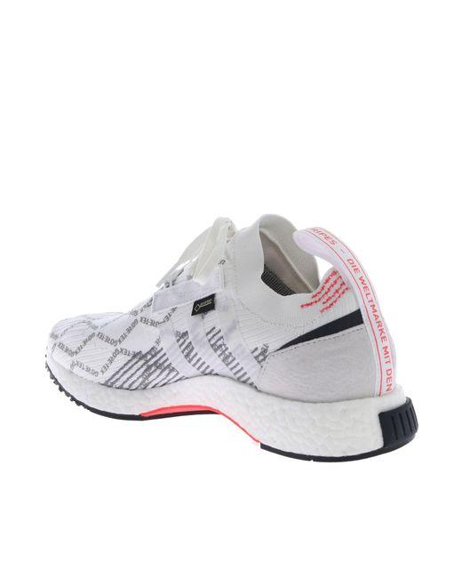de721dd2e760a ... Adidas - Originals Nmd Racer Gtx White Sneakers for Men - Lyst ...