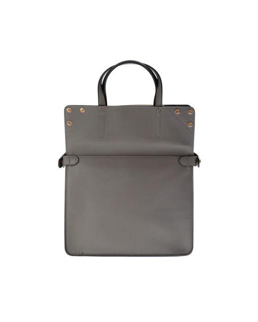 cf4841f1aac7 ... Fendi - Slim Small Gray Bag - Lyst ...