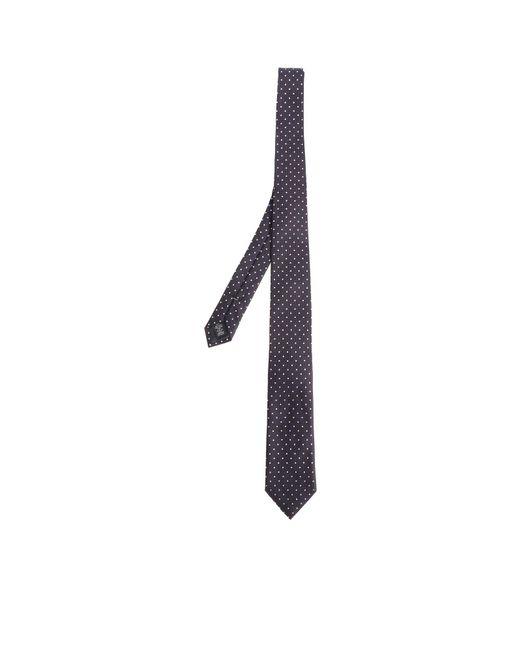 Ermenegildo Zegna - Blue Tie With White Polka Dots for Men - Lyst