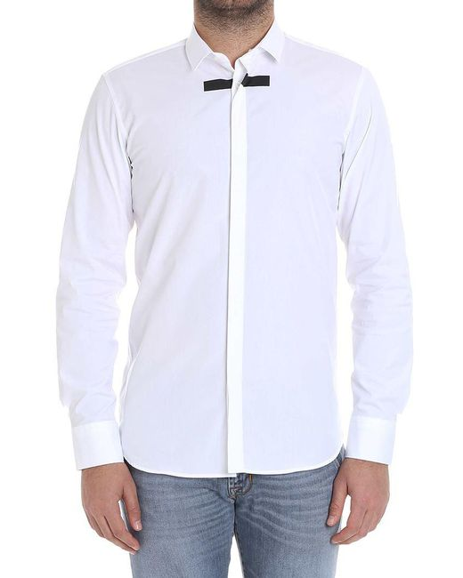 Neil Barrett - White Cotton Shirt for Men - Lyst