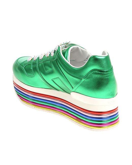 Laminated green H352 sneakers Hogan Cheap Sale Original High Quality Sale Online Inexpensive njUP2RKJ