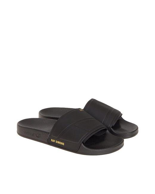 buy popular d8668 c8af5 Adidas By Raf Simons - Black Adilette Bunny Sliders - Lyst ...