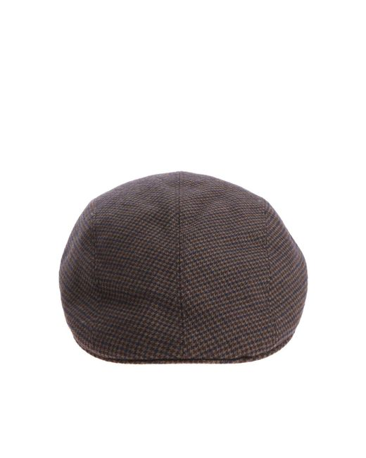 Altea - Multicolor Army Green Houndstooth Beret for Men - Lyst