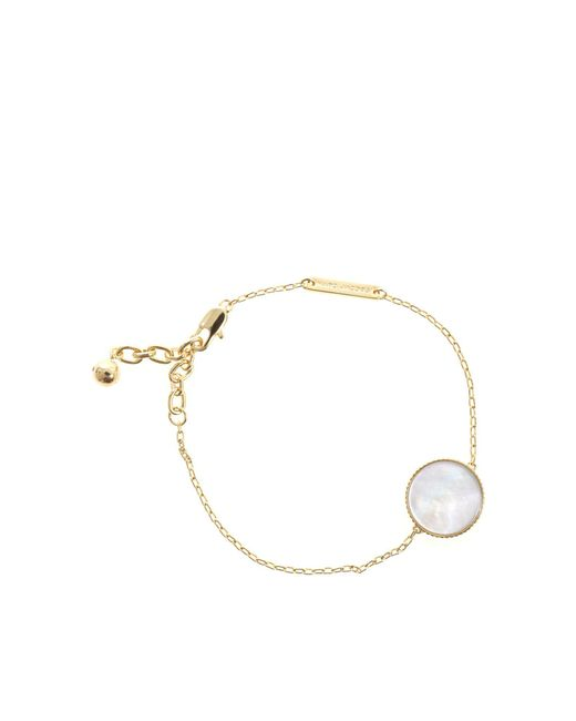 Marc Jacobs - Metallic Golden Pearlescent Chain Logo Bracelet - Lyst