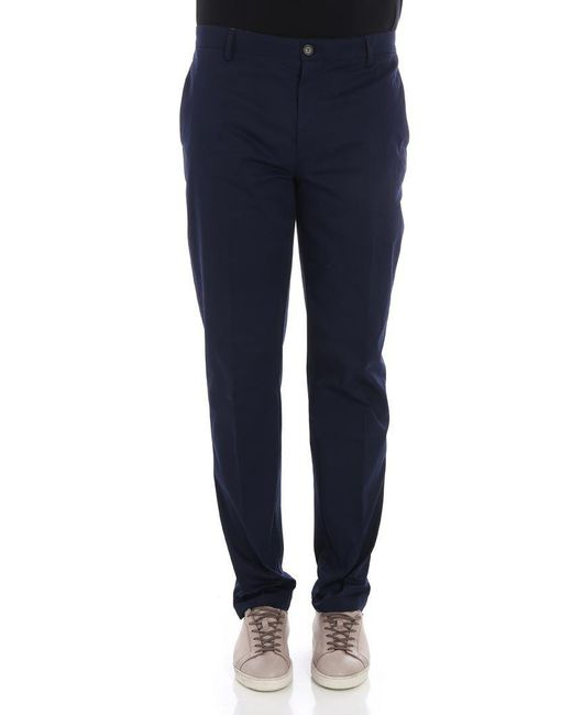 KENZO - Blue Relax Chinos Pants for Men - Lyst
