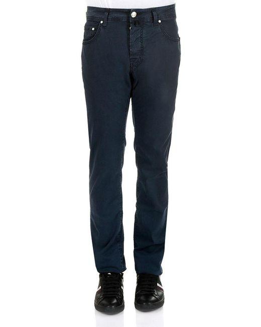 Jacob Cohen - Dark Blue 5 Pockets Jeans for Men - Lyst