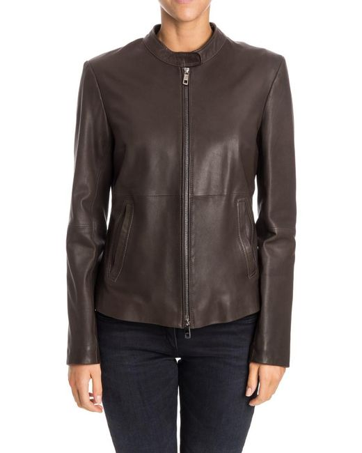 Desa Nineteenseventytwo - Brown Leather Jacket - Lyst