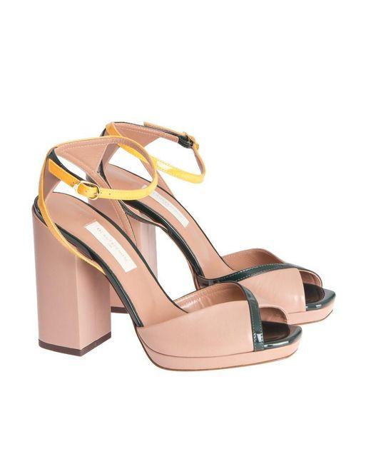 L'Autre Chose - Multicolor Leather Sandals - Lyst