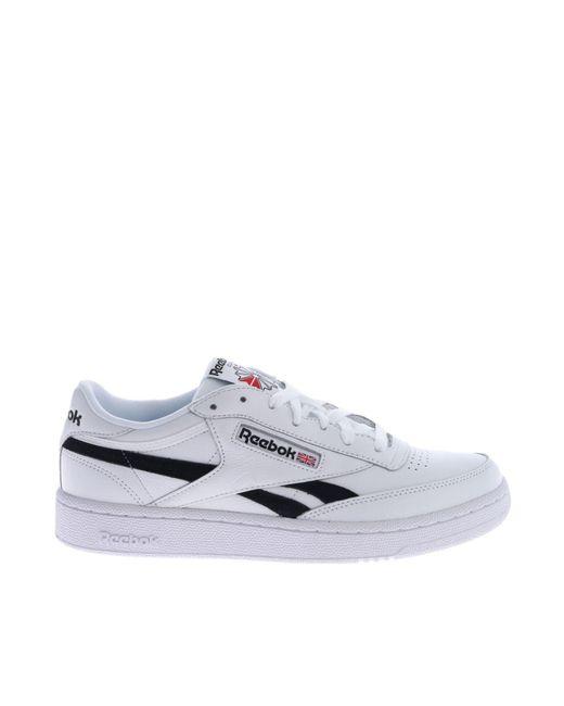e2a7d8370763b7 Reebok Revenge Plus Mu Sneakers In White And Black in White for Men ...
