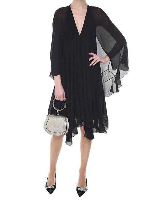 Chloé - Black Silk Crepe Dress - Lyst