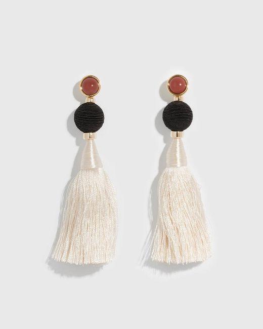 Lizzie Fortunato - Multicolor Puglia 18k Goldplated Carnelian & Silk Tassel Drop Earrings - Lyst