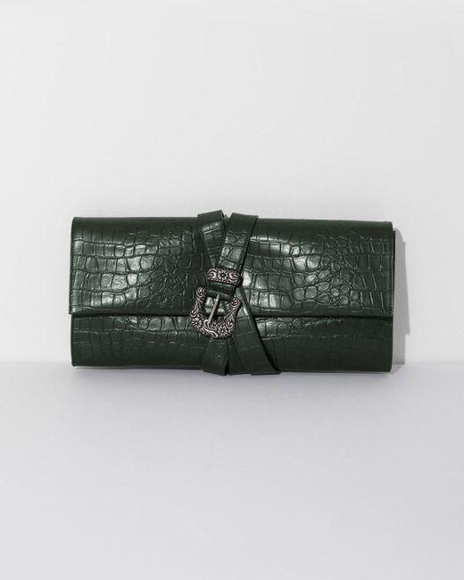 MM6 by Maison Martin Margiela | Green Croc Belted Clutch | Lyst