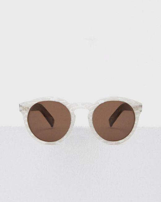 Illesteva - Brown Frosted Leonard Ii Sunglasses - Lyst