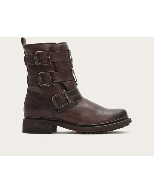 Frye   Brown Valerie Strappy Shearling   Lyst