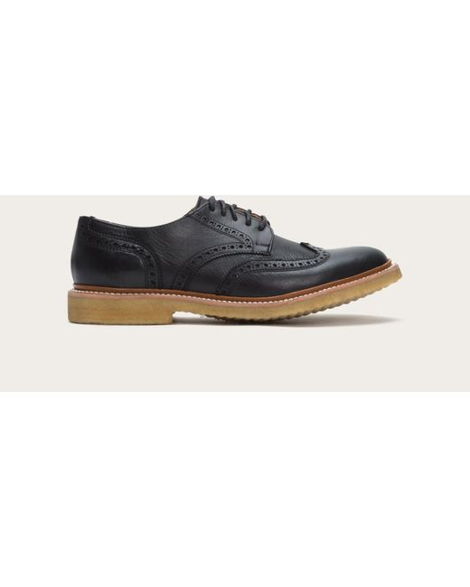 Frye | Black James Crepe Wingtip for Men | Lyst