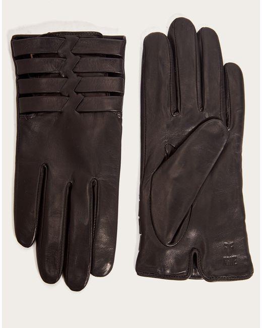 Frye - Black Women's Woven Leather Glove - Lyst