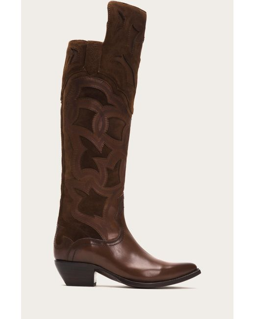 Frye | Brown Shane Embroidered Cuff | Lyst