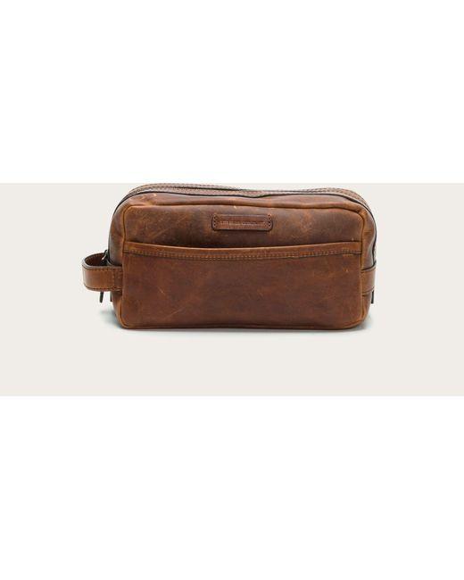 3e46e5de82 Frye - Brown Logan Travel Dopp Lg for Men - Lyst ...