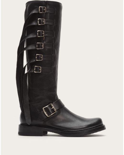 Frye | Black Veronica Strap Tall | Lyst