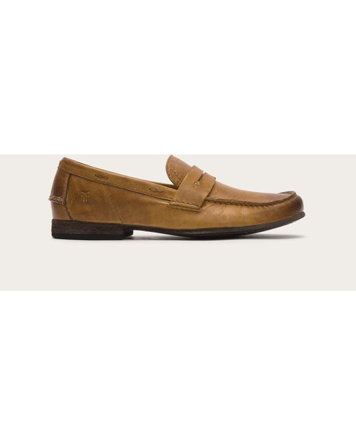 Frye | Brown Lewis Leather Penny for Men | Lyst