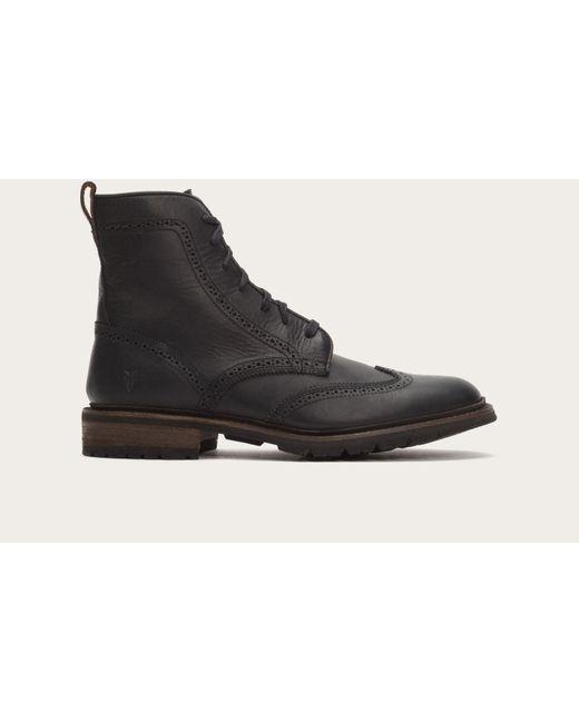 Frye | Black James Lug Wingtip Boot for Men | Lyst