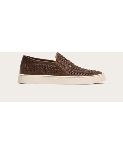 Frye | Brown Gabe Woven Slip On for Men | Lyst