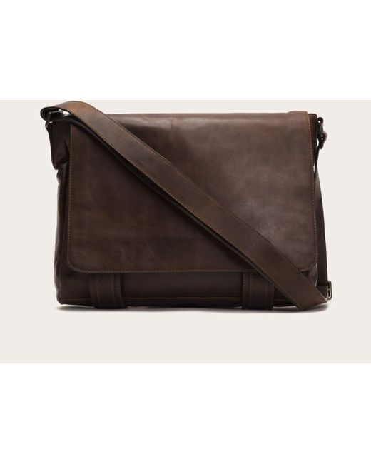 Frye | Brown Logan Messenger for Men | Lyst