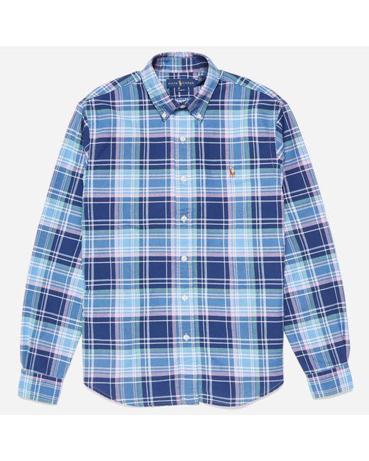 Polo Ralph Lauren - Blue Slim Fit Oxford Check Shirt for Men - Lyst
