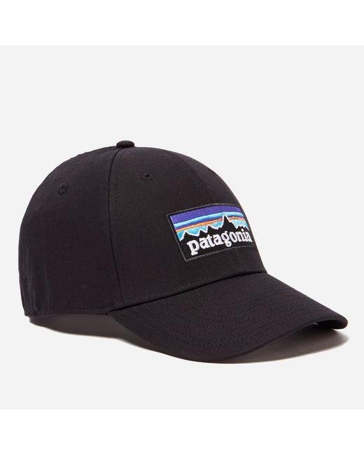 Patagonia   Black P6 Logo Stretch Fit Hat for Men   Lyst