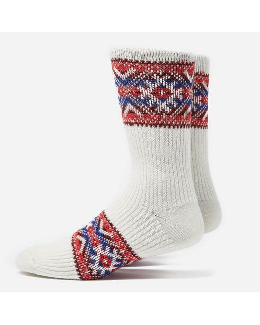Anonymous Ism | White Estonian Jacquard Socks for Men | Lyst