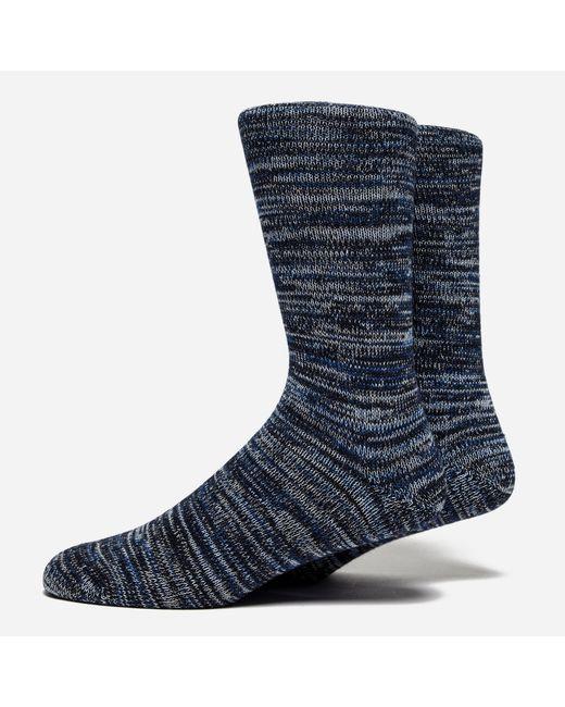 Folk   Blue Melange Socks for Men   Lyst