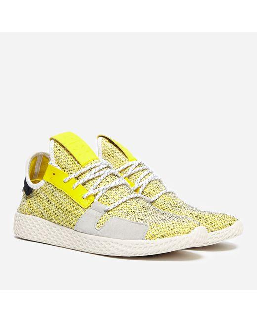 9f1809152 Adidas Originals - Yellow X Pharrell Williams Solar Hu Tennis V2  afro  Pack  for ...