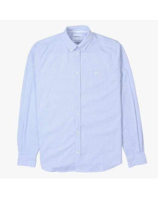 Norse Projects - Blue Anton Stripe Oxford Shirt for Men - Lyst