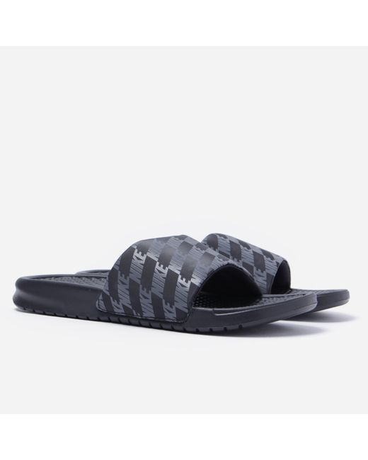 20f1a0820196 Nike - Blue Benassi Slides for Men - Lyst ...