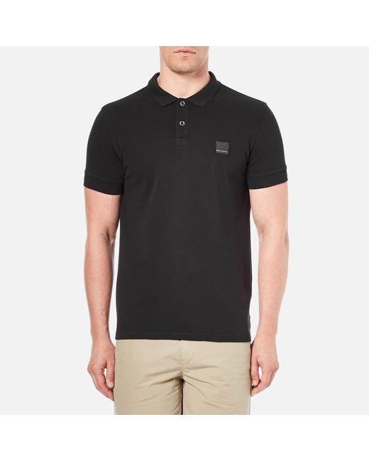 BOSS Orange - Black Men's Pascha Slim Block Branded Polo Shirt for Men - Lyst
