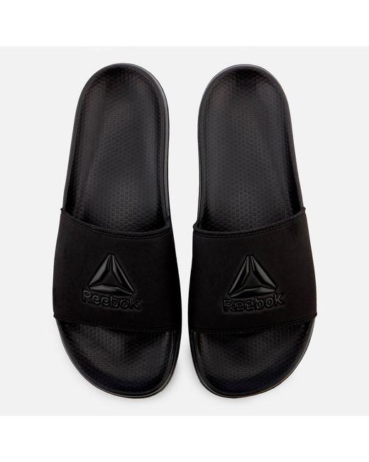 7e74869eb Reebok - Black Fulgere Slide Sandals for Men - Lyst ...