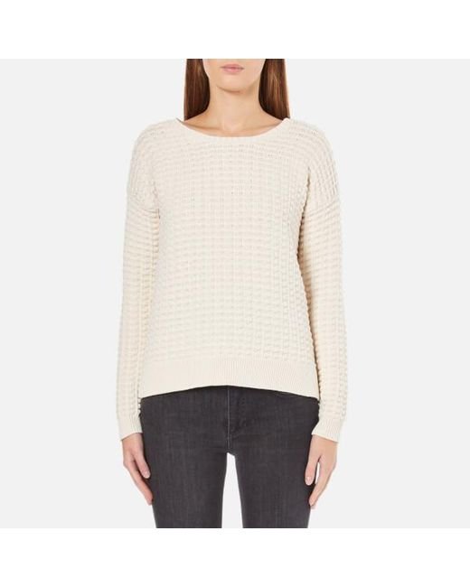 French Connection | Natural Mozart Popcorn Round Neck Jumper | Lyst