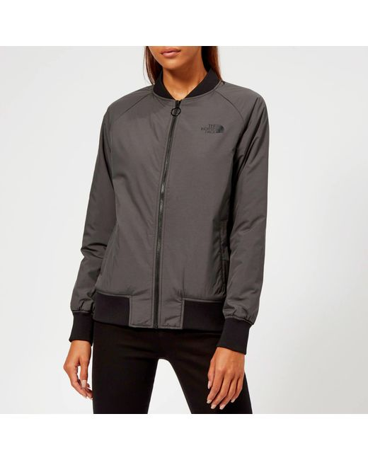 The North Face - Gray Insulated Bomber Jacket - Lyst