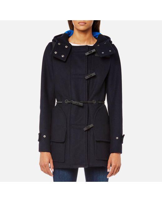 Hunter - Blue Original Bonded Wool Duffle Coat - Lyst