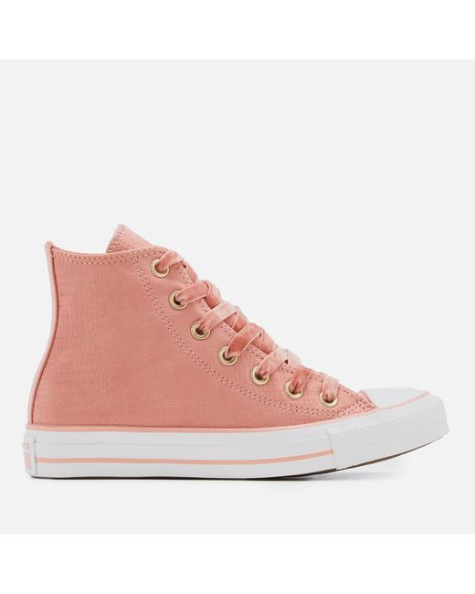 Converse Chuck Taylor All Star Hi-top Trainers in Pink - Save 50.0 ... 9f67c975e