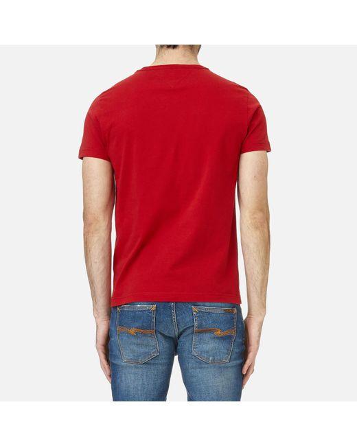 b92b16c8 ... Tommy Hilfiger - Red Large Logo T-shirt for Men - Lyst ...