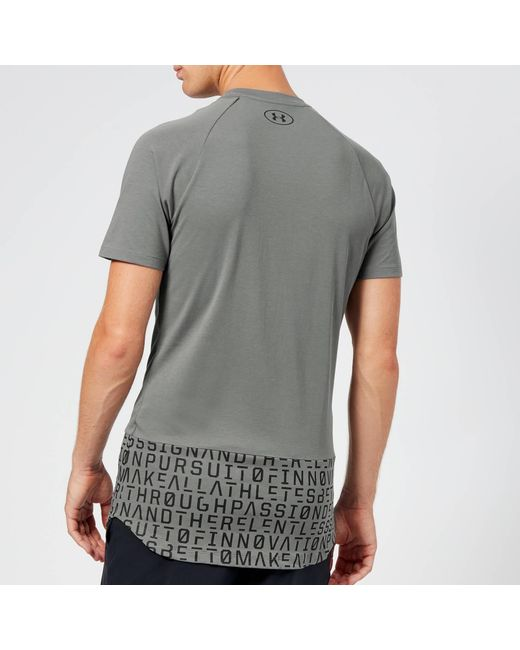 c86e0ff82 ... Under Armour - Gray Perpetual Graphic Performance T-shirt for Men -  Lyst ...