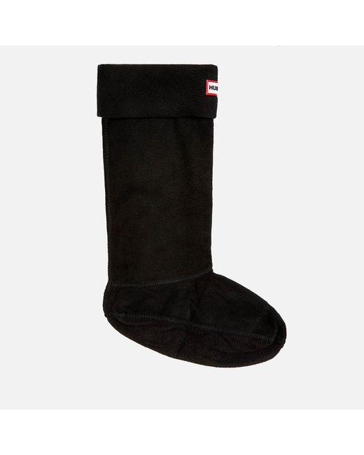 Hunter - Black Unisex Fleece Welly Socks for Men - Lyst
