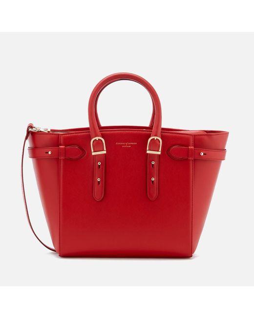 Aspinal | Red Marylebone Medium Tote Bag | Lyst