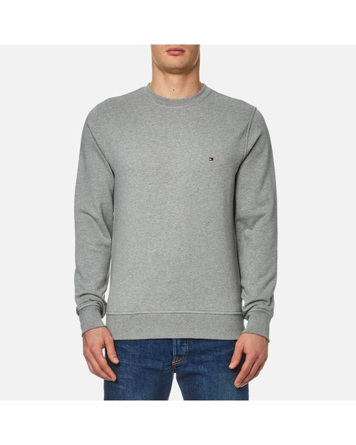 Tommy Hilfiger - Gray Grey Jacquard Dotted Sweatshirt for Men - Lyst