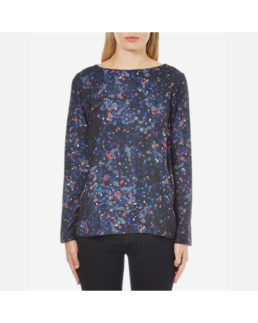 SELECTED - Blue Nisma Long Sleeve Top - Lyst
