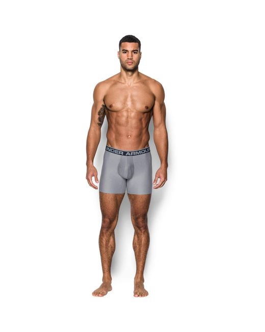 Under Armour - Gray 0-series 2 Pack 6 Inch Boxerjock Briefs for Men - Lyst