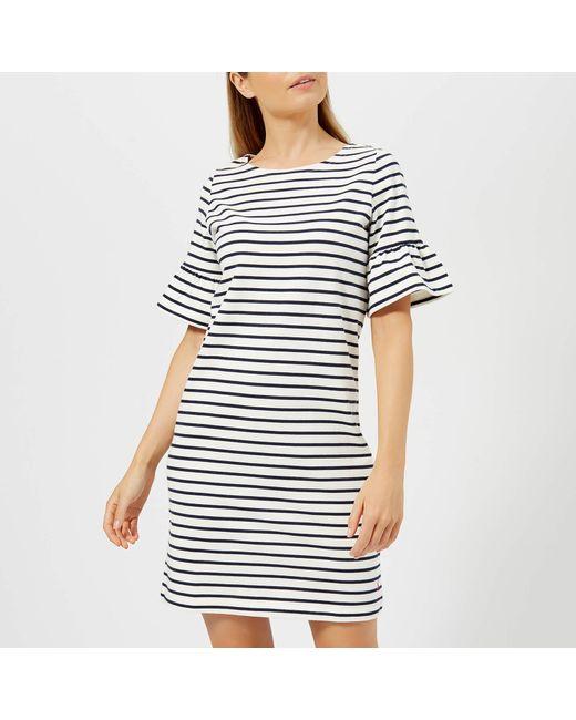 c00952ec1d7 Joules - Blue Sienna Fluted Sleeve Jersey Dress - Lyst ...