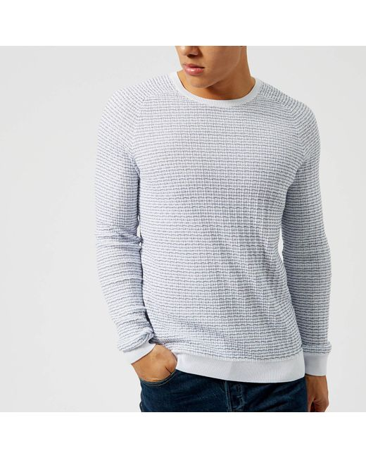 HUGO - White Stanon Knit Jumper for Men - Lyst